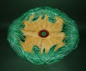 Stunning Joseph Holdcroft 'Corn on the Cob' Majolica Bread Platter c1880